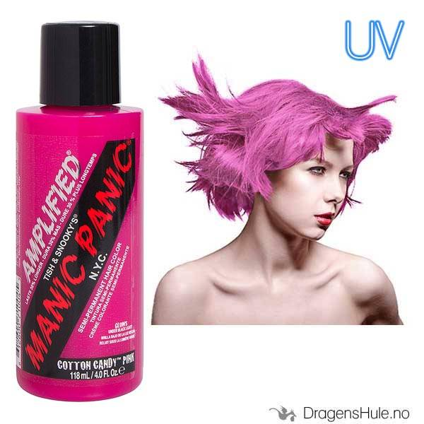 Hårfarge: Cotton Candy Pink Amplified -Manic Panic