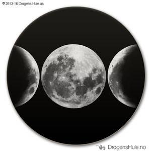Bilde av  Button: Wicca tre måner