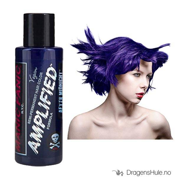 Hårfarge: After Midnight Blue Amplified -Manic Panic