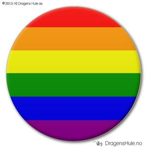 Bilde av  Button: Flagg Pride