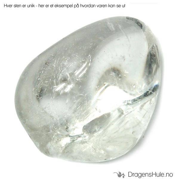 Mineral: Tromlet Bergkrystall, klar /´Clear Quartz´ 2-3cm